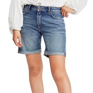 NEW Free People Ivy Long Shorts Indigo 26